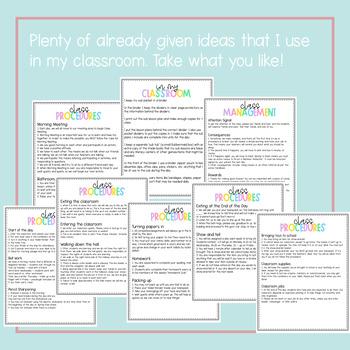 Editable Substitute Binder Set Up File {Pastel Candy Color Design}