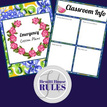 Substitute Binder with Tropical and Flamingo Theme