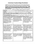 Substitute Bingo (Used for No Access to Technology)