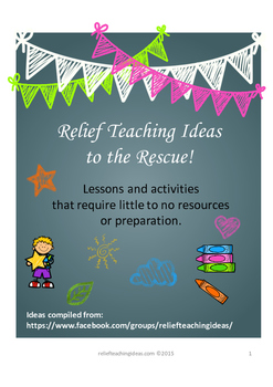 Substitute / Casual / Relief Teaching Ideas