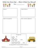 Substitute Comment Sheet