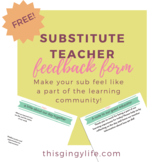 Substitute Communication Form