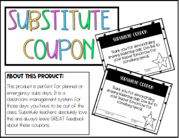 Substitute Coupon