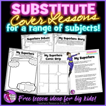 Substitute Cover Lesson FREE