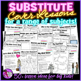 Substitute Cover Lessons Pack for a range of subjects