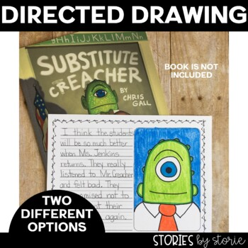 Substitute Creacher (Book Questions, Vocabulary, & Directed Drawing)