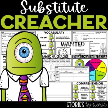 Substitute Creacher (Book Questions, Vocabulary, & Directe