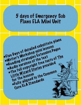 5 days of Emergency Sub Plans ELA Mini Unit