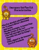 Emergency Sub Plan eLearning ELA Characterization
