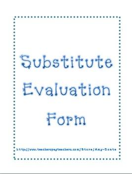 Substitute Evaluation Form