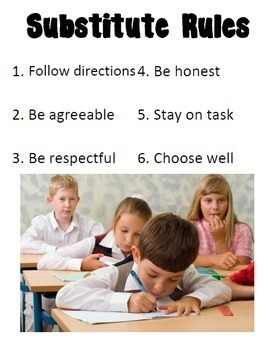Substitute Expectations - Back to School Rules Posters