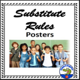 Substitute Expectations - Back to School Rules Posters Classroom Decor
