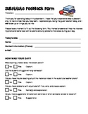 Substitute Feedback Form - 2