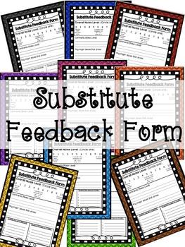 Substitute Feedback Form
