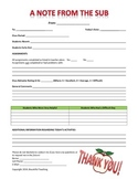 Middle Grades/High School Substitute Feedback Form