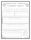 Substitute Feedback Page
