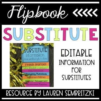Substitute Flip Book Editable