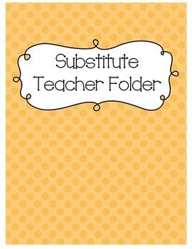 Substitute Folder {Apricot Polka Dot}