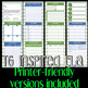 Substitute Folder / Binder -- Green & White Stripes