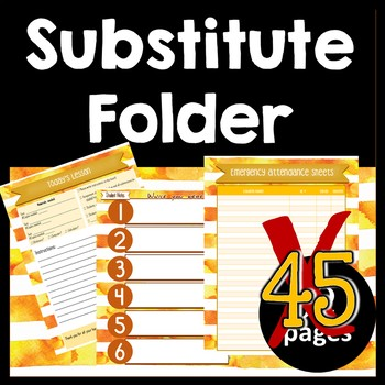 Substitute Folder / Binder -- Sunset: Yellow Gold & Bronze Watercolor Stripes