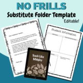 Substitute Folder Editable Template