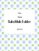 Polka Dot Editable Substitute Folder Forms