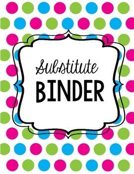 Substitute Binder- Full