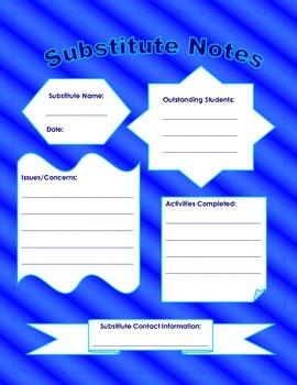 Substitute Folder Information