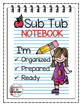 Substitute Folder Printables by Kreative in Kinder | Teachers Pay ...