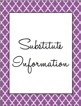 Substitute Folder/Binder - Purple