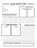 Substitute Forms (While You Were Out!)