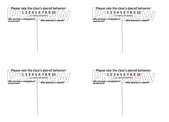 Substitute Guest Teacher Exit Ticket Plan