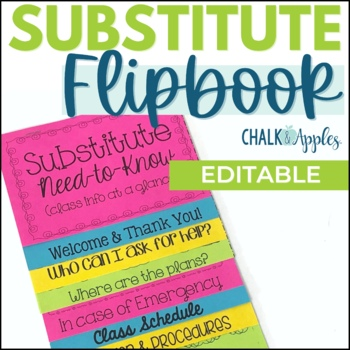 Substitute Flipbook (Editable)