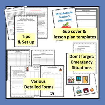 Substitute Information Binder      A Detailed Approach for Any Sub and Any Grade