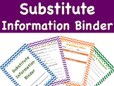 Substitute Information Binder Template - High School