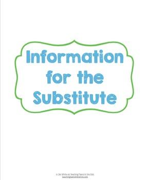 Substitute Information Binder/Spiral