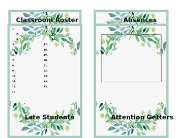 Substitute Information Cards