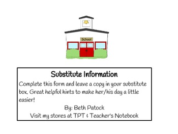 Substitute Information Pack