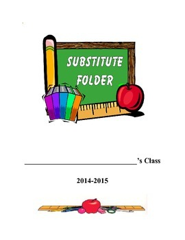 Substitute Information/Plans