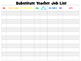 Substitute Job List