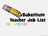 Substitute Job List