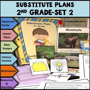 Substitute Lesson Plans Grade 2 Set 2