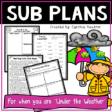 Emergency Sub Plans for 4th Grade Weird Weather Theme