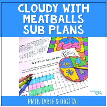 Sub Plans- Cloudy With a Chance of Meatballs