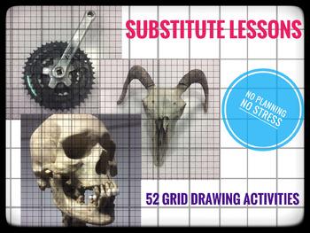 Grid Drawings Bundle. 52 Activities
