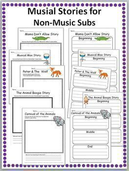 Music Substitute Plans Bundled