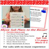 Music Substitute Plans Bundled