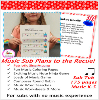 Music Substitute Plans Bundled {Includes 173 pages}