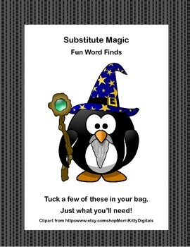 Substitute Magic-5 Word Finds