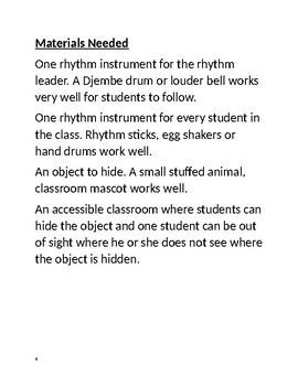 Substitute Music Teacher Lesson Plan